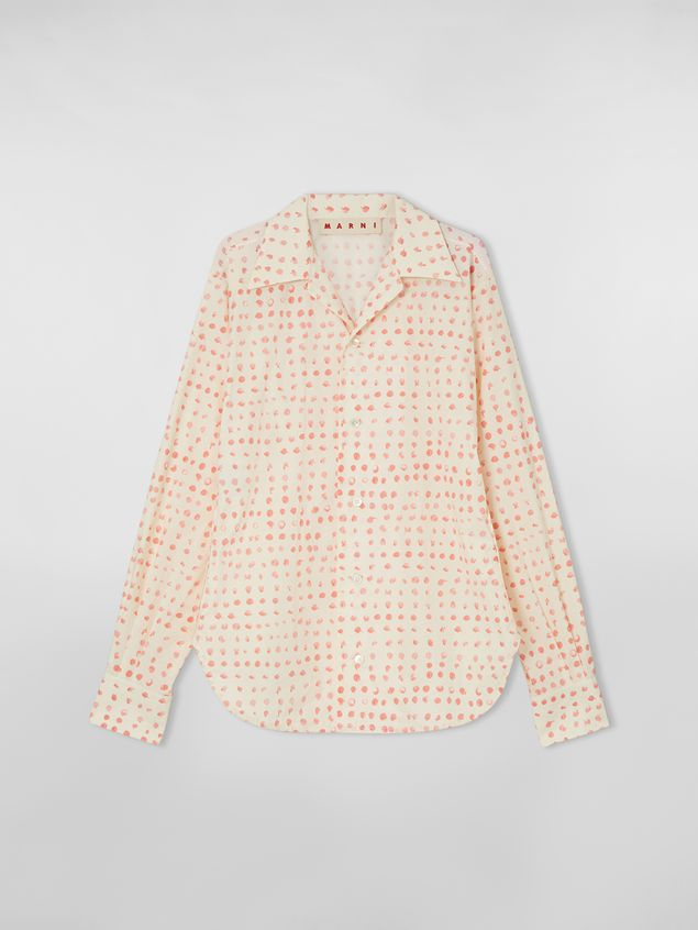 Marni Shirt in cotton poplin Cerere print with lapels collar Woman - 2