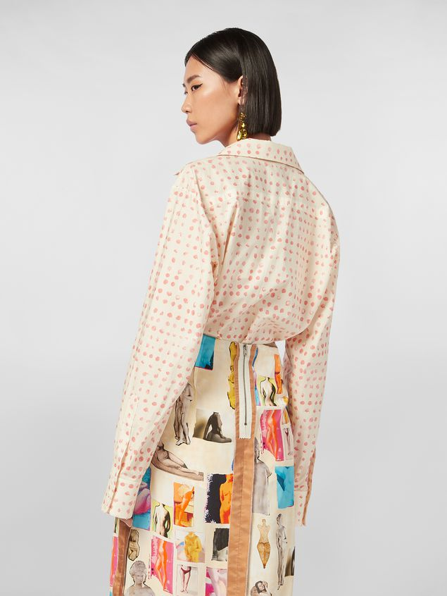 Marni Shirt in cotton poplin Cerere print with lapels collar Woman - 3