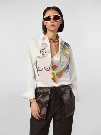 Marni Cotton shirt with Venere print Woman