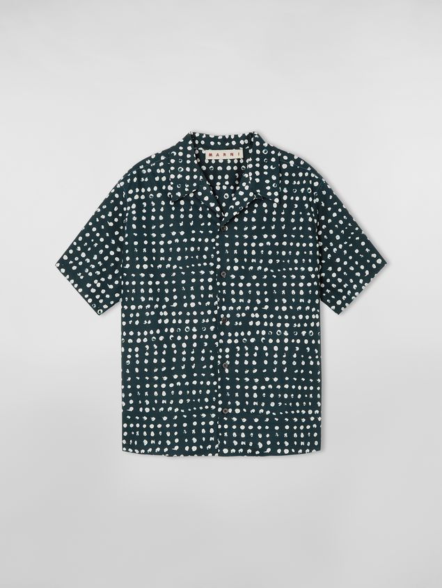 Marni Short-sleeved shirt in cotton poplin Cerere print Woman - 2
