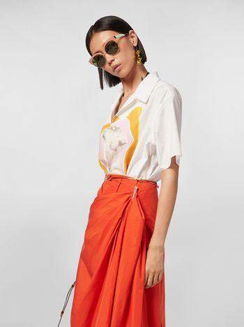 Marni Short-sleeved shirt in cotton poplin Venere print Woman