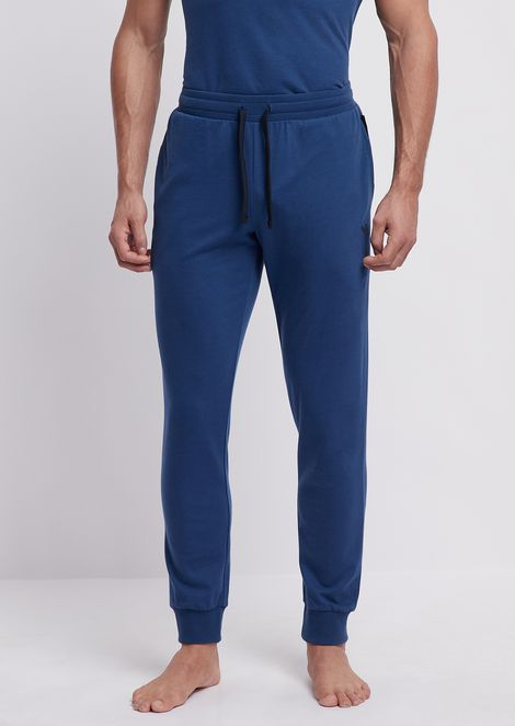 Logomaniac Terry loungewear trousers with drawstring at waist