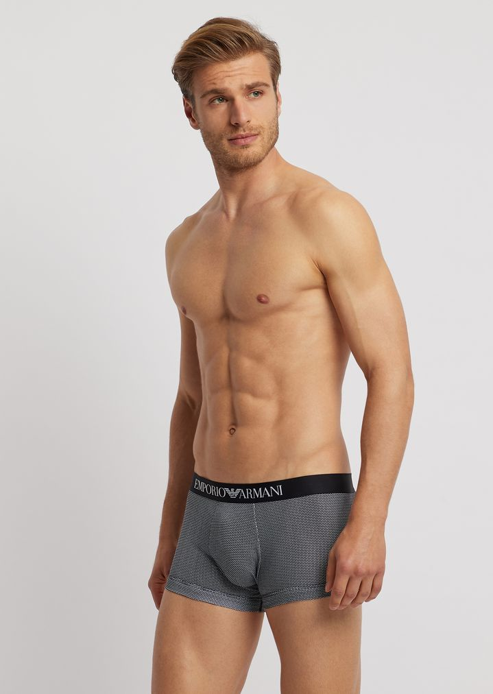 1bf9e6fb4ed6 Pack of two stretch cotton boxers with logo elastic | Man | Emporio Armani