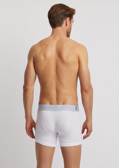Stretch cotton boxers with elasticated logo maxi waistband