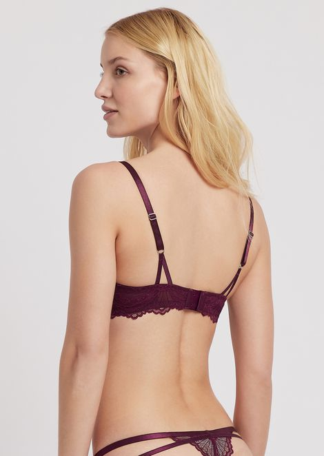 Lace bra with padded and molded cups