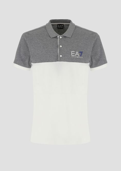 Two-tone Train 7Colours cotton piqué polo shirt