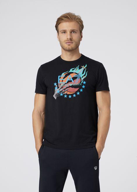 Camiseta Train Graphic de algodón puro con estampado de baloncesto