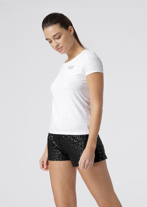 T-shirt en jersey stretch à motif animalier