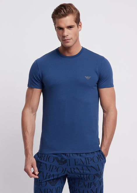 Regular fit loungewear t-shirt with all-over logo on the back