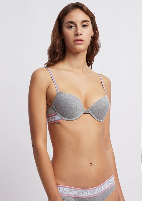Padded bra with logo band