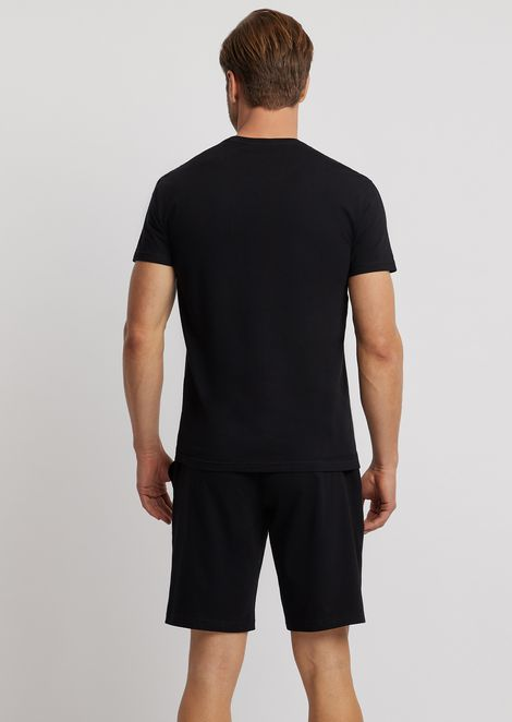Pyjamas with stretch jersey T-shirt and shorts