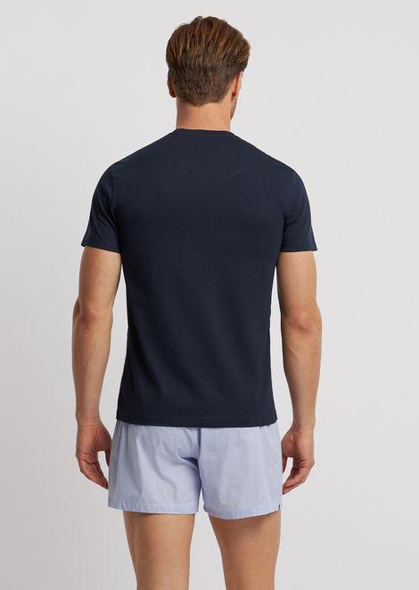 Pyjamas with jersey T-shirt and cotton shorts