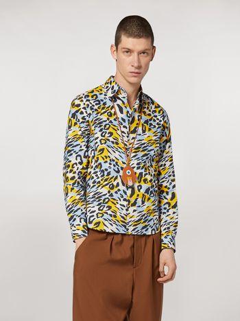 Marni Cotton poplin shirt Camoleo print Man