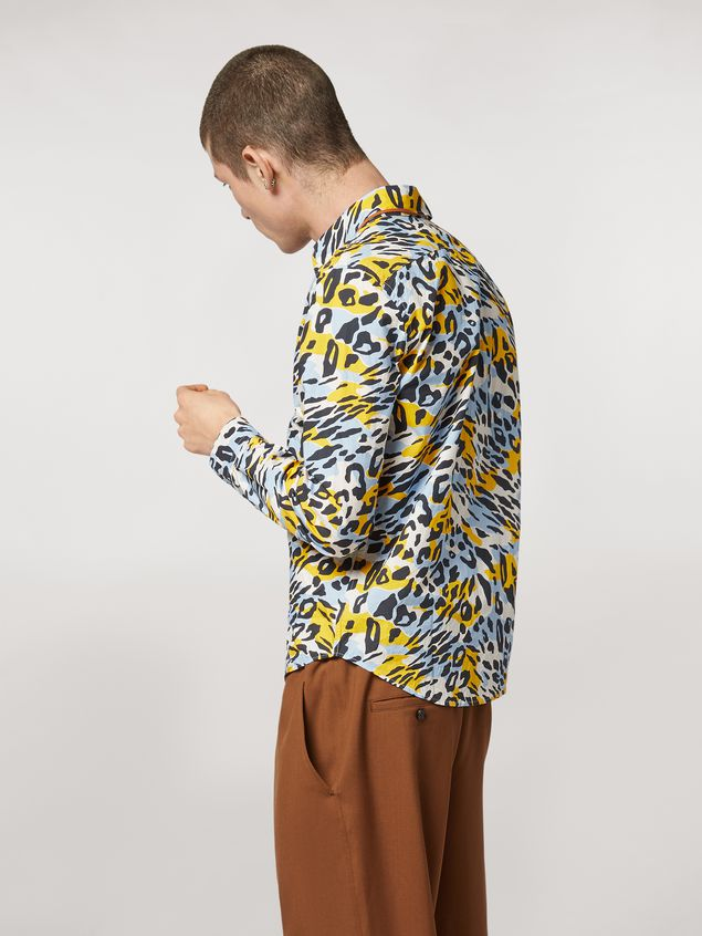 Marni Cotton poplin shirt Camoleo print Man