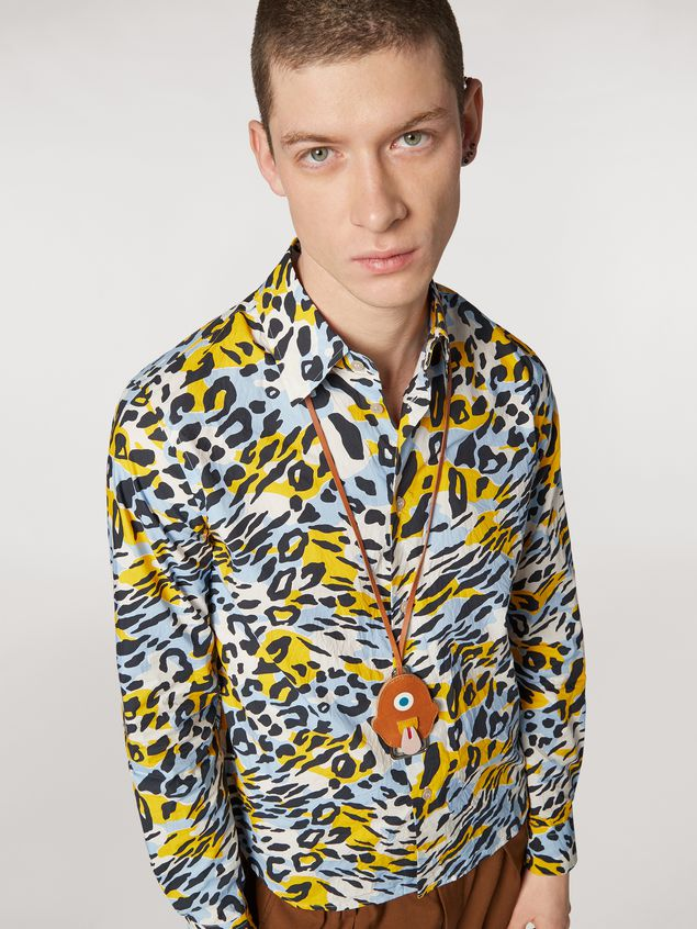 Marni Cotton poplin shirt Camoleo print Man - 4