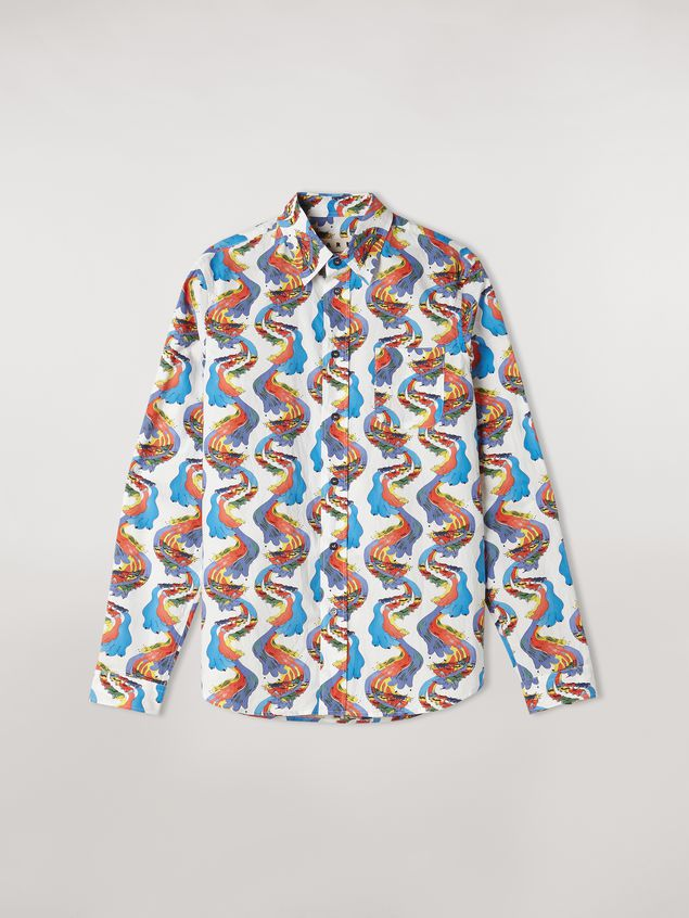 Marni Cotton shirt with Firebird print by Bruno Bozzetto Man - 2