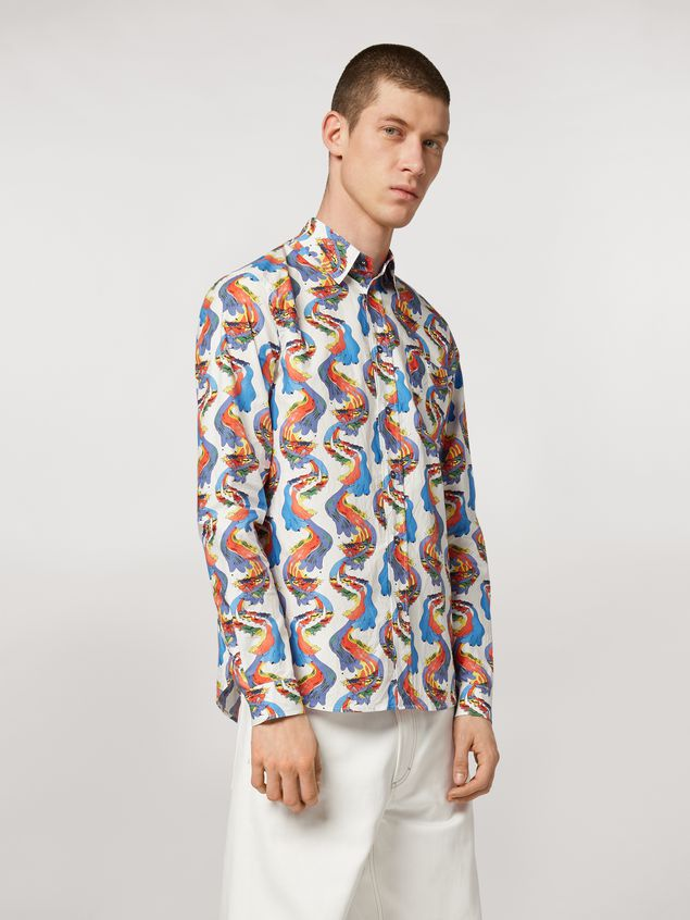 Marni Cotton shirt with Firebird print by Bruno Bozzetto Man - 1