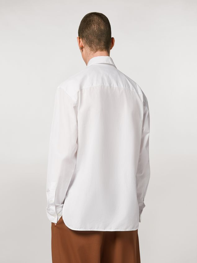 Marni Shirt in twisted cotton poplin with print by Bruno Bozzetto Man