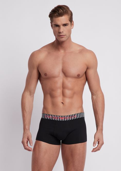 ae315737 Animalia pattern jersey boxers with elasticated logo waistband