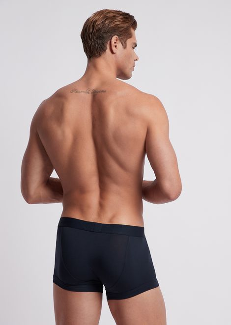 Stretch modal boxers with logoed elastic