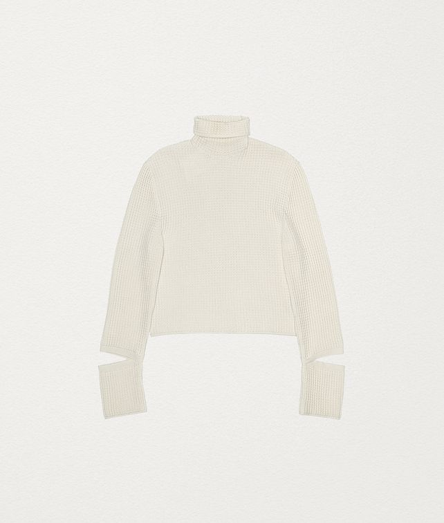 BOTTEGA VENETA PULLOVER IN CASHMERE AND COTTON Knitwear Man fp