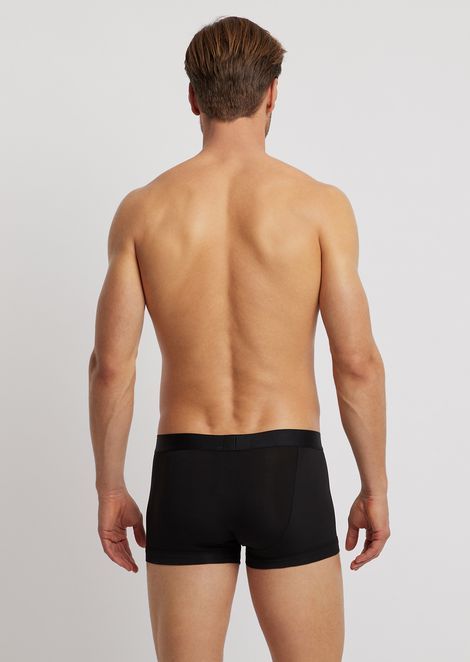 Stretch modal boxers with elasticated logo waistband