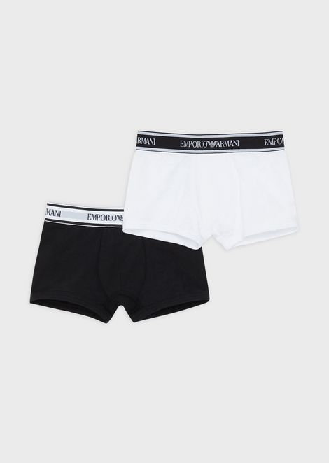 Pack of 2 boxer briefs with logo at the waist