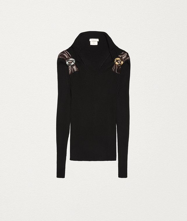 BOTTEGA VENETA PULLOVER IN TECHNO WOOL Knitwear Woman fp