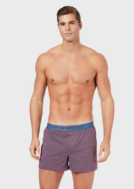Boxer shorts with decorative pattern