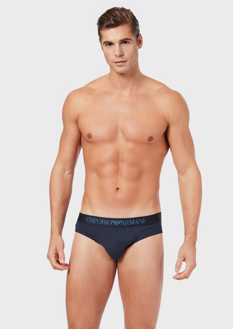 Pack of 2 briefs with decorative pattern