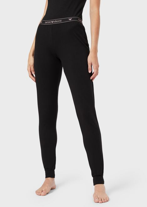 Loungewear trousers with logo band