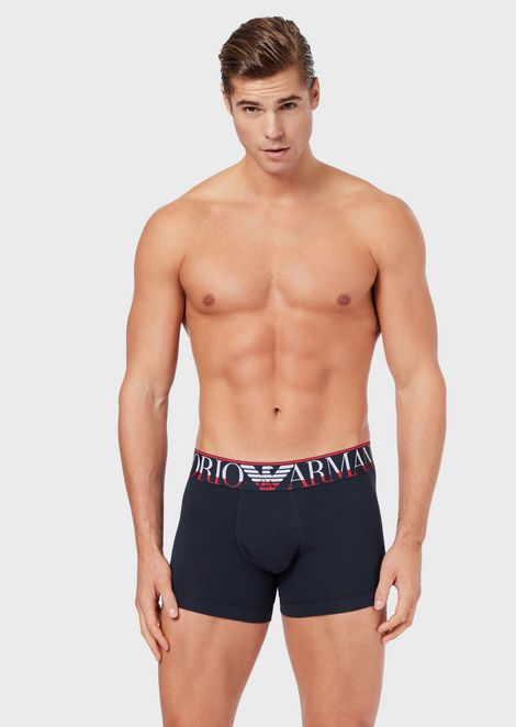 Boxer briefs with maxi-logo on the band