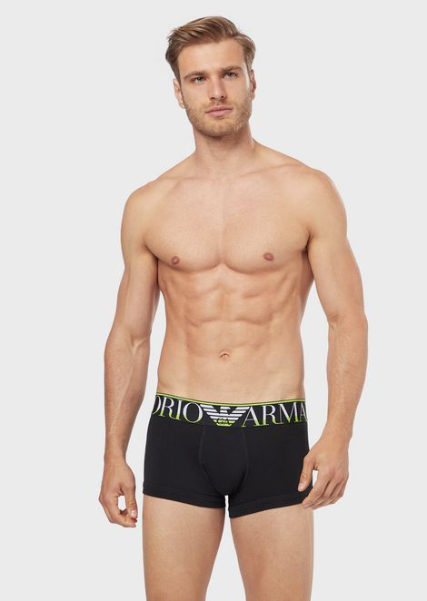 Boxer briefs with maxi-logo band