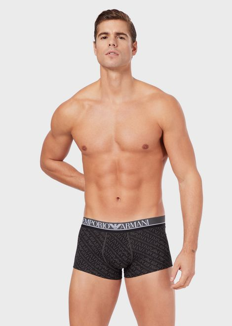 Boxer briefs with all-over logo