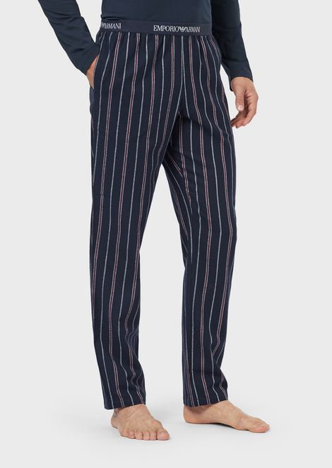 Loungewear trousers with decorative pattern