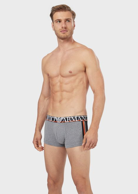 Boxer briefs with contrasting bands