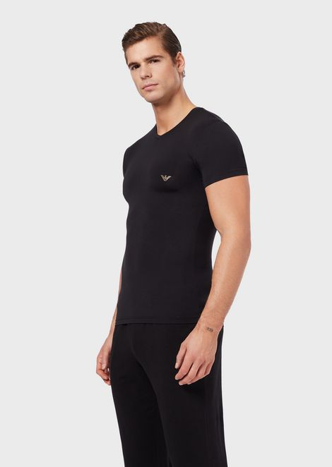 V-neck T-shirt in soft modal