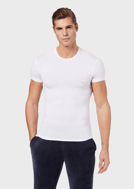 Crew-neck T-shirt in soft modal