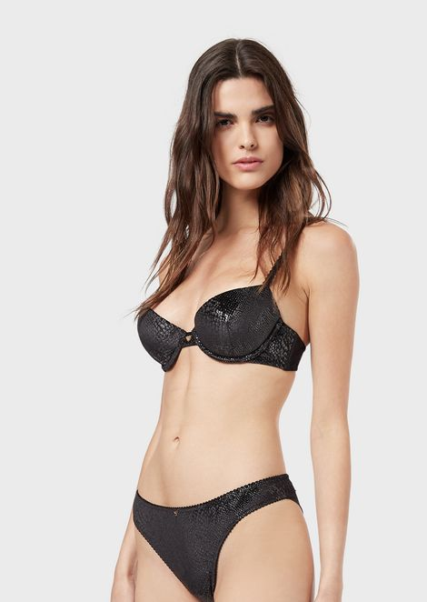 Push-up bra with python print