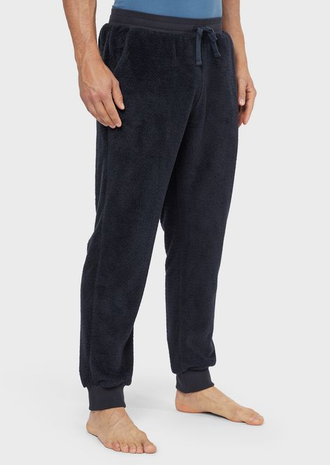 Plush-effect loungewear trousers