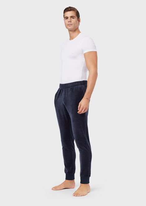Loungewear trousers in smooth-finish fabric