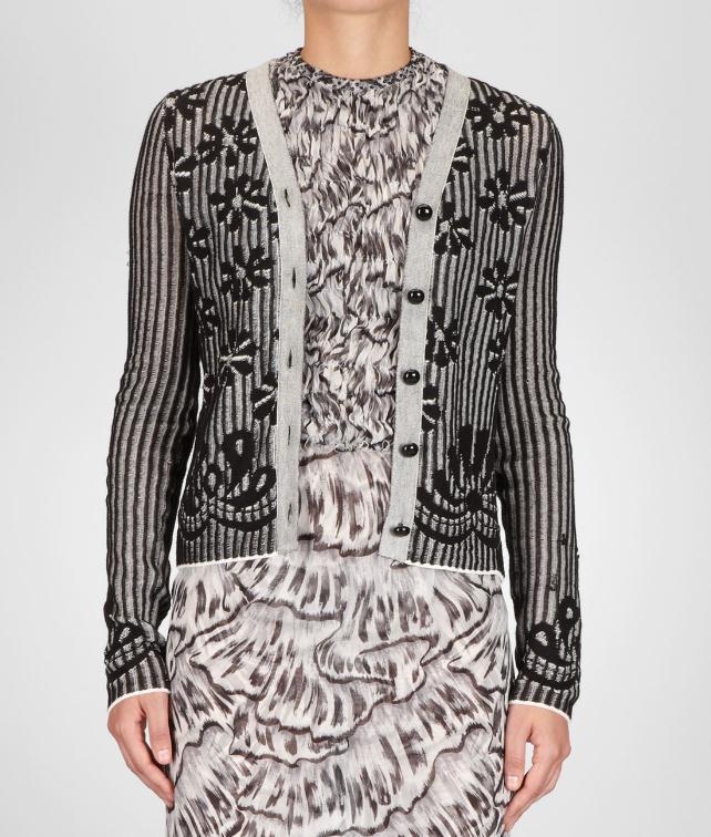 BOTTEGA VENETA Jacquard Cotton Cardigan Sweater and top D fp