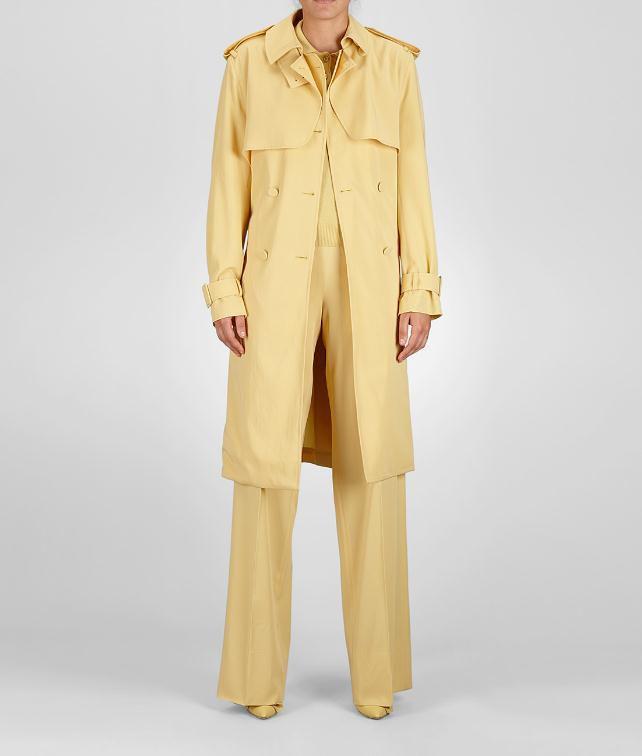 BOTTEGA VENETA Fluid Light Wool Gabardine Trench Coat or Jacket D fp
