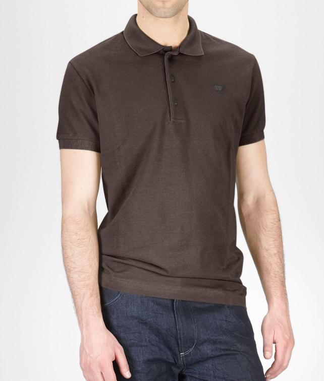 BOTTEGA VENETA Cotton Piquet Polo Shirt Tops, tees and shirts U fp