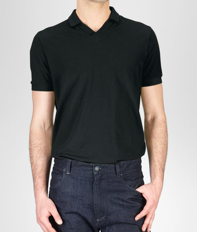 BOTTEGA VENETA Cotton Piqué Polo Shirt Tops, tees and shirts U fp