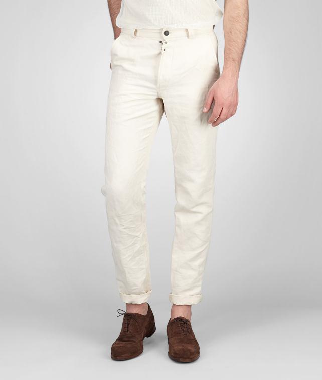 BOTTEGA VENETA Linen Cotton Gabardine Pant Trouser or jeans U fp