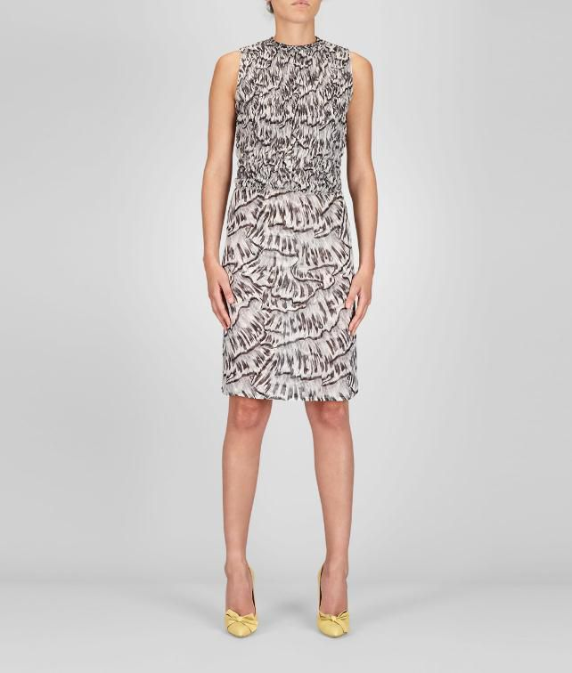 BOTTEGA VENETA Studded Trompe L'Oeil Silk Printed Dress      Dress D fp