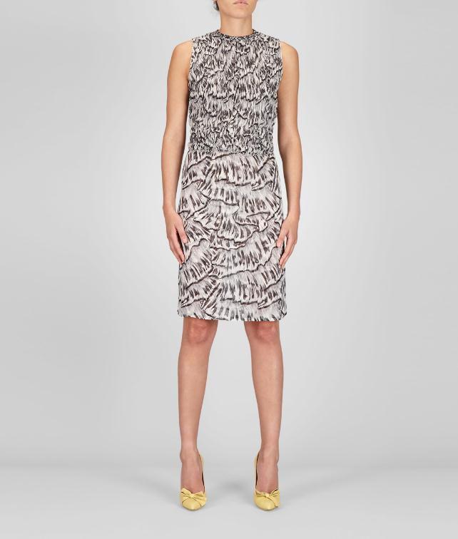 BOTTEGA VENETA Studded Trompe L'Oeil Silk Printed Dress           Dress D fp