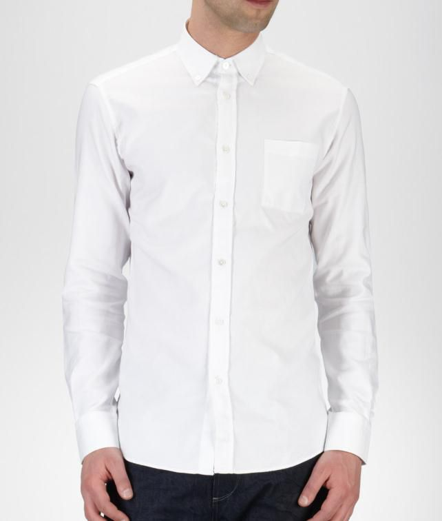 BOTTEGA VENETA Oxford Cotton Shirt Tops, tees and shirts U fp