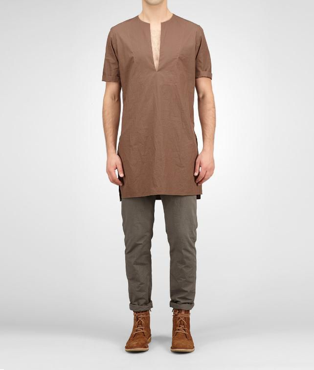 BOTTEGA VENETA Light Cotton Tunic Tops, tees and shirts U fp